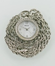 Relic Watch Womens MOP Stainless Silver Necklace Battery Water Resistant... - $28.56