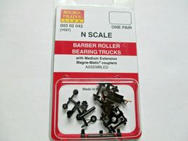 Micro-Trains #00302042 (1037) Barber Roller Bearing Trucks Medium Extension (N) image 3
