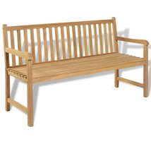 "vidaXL Teak Outdoor Bench 59"" Patio Chair Backyard Seat Garden Furniture - $197.99"