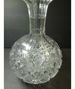 Straus Glass Co ABP Venetian Pattern Rare Carafe 1893 Brilliant Antique ... - $143.55