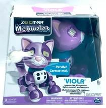 Zoomer Meowzies Kitten Viola Interactive Fun with Lights Sounds & Sensor... - $19.99