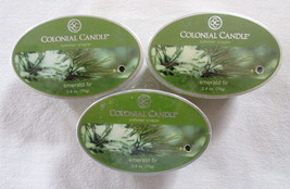 3 Colonial Candle ~~EMERALD FIR~~ Simmer Snaps/ Tart 2.4oz Oval - $16.00