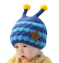 New Style Baby Warm Hat Cap Cute Baby Winter Hats Denim Blue, 6-48 Months