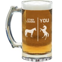 Cousin Beer Mug Glass Stein Cup Funny Gift Idea For Men Him Guy Birthday... - $24.99