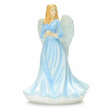 "Royal Doulton Watchful Angels 7"" Bone China Figurine Devoted Heart  - $138.59"