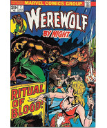 Werewolf By Night Comic Book #7, Marvel Comics 1973 VERY FINE+ - $34.75