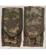 2 ea MOLLE II ACU 5.56 Double 30 Round Mag Magazine Pouch Excellent Phon... - $5.99