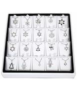 SNSArts & Judaica Beautiful Full Display- 20 Assorted Pendants with Chai... - $985.61