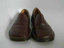 Born Womens Brown Leather Slip On Shoes Size 6M/W (EU 36.5) B6084 - $28.99