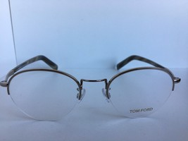 New Tom Ford TF 5334 TF5334 034 50mm Rx Semi-Rimless Silver Eyeglasses F... - $146.99
