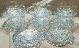 Vintage Anchor Hocking Depression Glass Bubble Blue - 16 pcs. (circa 1940s) - $22.05