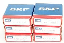 LOT OF 6 NIB SKF EXPLORER 6203 2ZJEM BALL BEARINGS