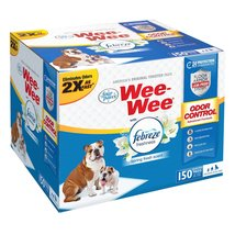 """Four Paws Wee-Wee Odor Control with Febreze Freshness Pads 150 count White 22"""" x - $48.99"""