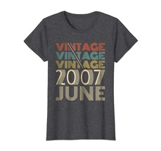 Uncle Shirts -   Vintage Legends Born In JUNE 2007 Awesome 11 Yrs Years ... - $19.95+