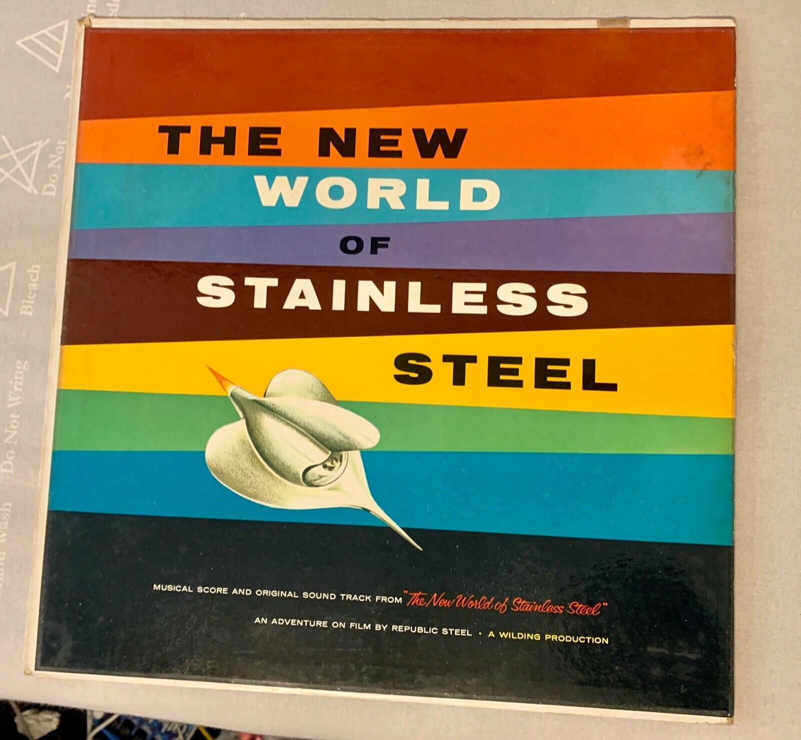 Primary image for SOUNDTRACK: New World Of Stainless Steel LP Rare Vinyl Record Vintage