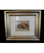 Vintage FRAMED and MATTED Picture of ASTI S. SECONDO Church w/ Certificate - $21.77