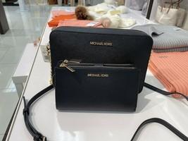 NWT Michael Kors Jet Set Travel Large Crossbody & Double Zip Wallet Blac... - $155.15