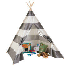 AniiKiss Giant Canvas Kids Teepee Play Tent, Grey Stripes - $41.99