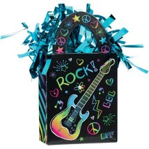 Neon Doodle Rainbow Rock Star Birthday Party Decoration Gift Bag Balloon... - $8.66