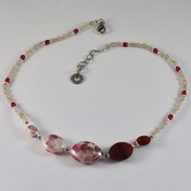 ANTICA MURRINA VENEZIA NECKLACE WITH WHITE AND RED MURANO GLASS CO925A11 image 1