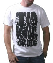 IM King Mens White Black Uzi I'm King or Die Graphic T-Shirt USA Made NWT
