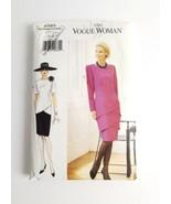 Vogue 9385 Dress Size 14 16 18 Layered Drop Waist Tiers 1995 Uncut - $12.99