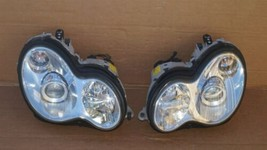 03-07 Mercedes W203 C230 C280 Xenon Headlight Head Light Lamps Set L&R POLISHED image 1