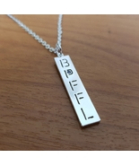 "Pendant - ""BPFFL"" Downward - Tiny Purple Stone on ""P"" - 18"" Chain Necklace - $69.00"