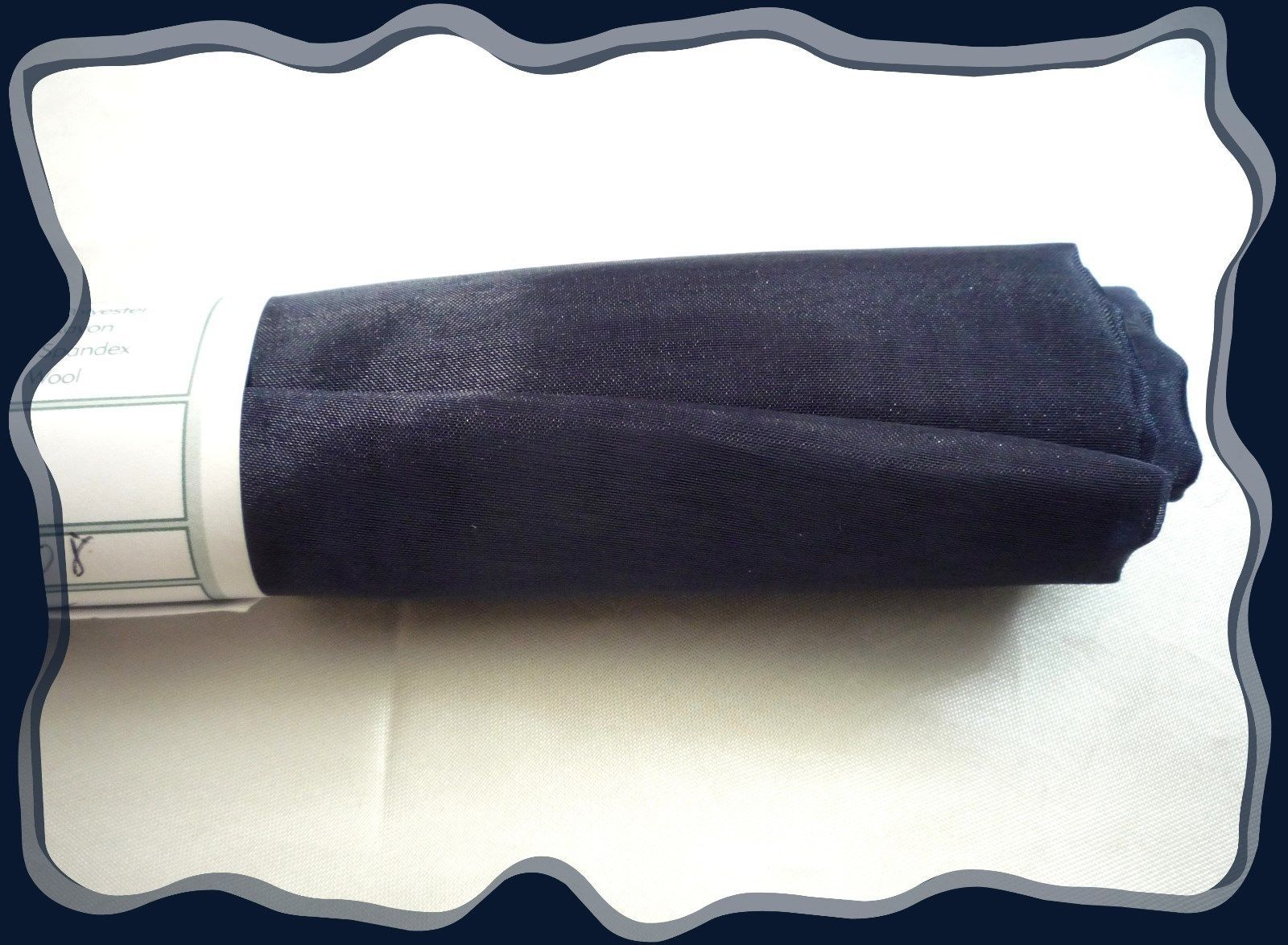 Primary image for Navy Blue Shimmering Soft ORGANZA Fabric .75 x 45  Polyester