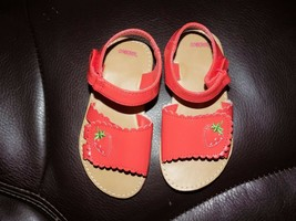 Gymboree Pink Strawberry Sandals Size 8 Girl's Toddlers EUC  - $19.00