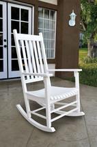 Shine Vermont Porch Rocker Rocking Chair Classic Style Oak or White - $146.95