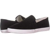 SC35 Louiza Perforated Slip-On Sneakers 034, Black, 9 US - $16.31