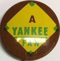 1966 Vintage NY New York Yankees Baseball 3/4 Inch Pin Pinback MLB Guys Chip - $12.82