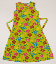 COPPER KEY GIRLS SIZE 7 LONG DRESS COLORFUL FLORAL FLOWERS POLYESTER SLE... - $13.45