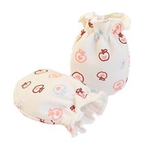 2-Packs Soft Newborn/Infant NO-Scratching Bamboo Mittens for 0-3M ONE Size