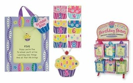 Birthday Bites Cupcake Pendant Necklace For Ages 3, 4, 5 ,6 ,7, 8 Gift P... - $9.99