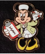 Disney Occupations Nurse Minnie Mouse with Stethoscope and Clipboard pin - $34.29
