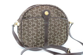 CELINE Canvas Shoulder Bag Brown Auth ar680 - $99.00