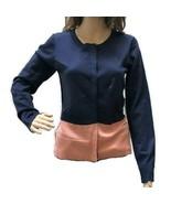 NEW Stitch Fix 41 Hawthorn Color Block Wool Blend Cardigan Sweater Women... - $14.95