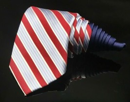 TOMMY HILFIGER Red White Cane Candy Christmas Holiday Tie - $14.72