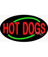 17x30x3 inches Hot Dogs Flashing ON/OFF NEON Advertising Window Sign - £161.15 GBP