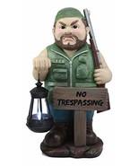 Ebros Large Grumpy Hunter with Shotgun and No Trespassing Sign Statue wi... - $54.40