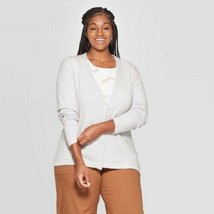 Women's Long Sleeve Open Layering Button-Front Cardigan, Light Heather G... - $15.74