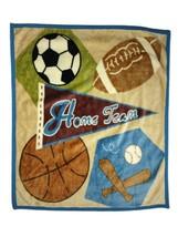 CoCaLo Baby Boy HOME TEAM Sports Blanket Football Soccer Basketball Baseball EUC - $18.39