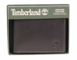 Timberland Men's Genuine Leather Passcase Credit Card Id Billfold Wallet image 15