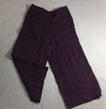 Ann Taylor LOFT Womens Sz 10 Purple Flat Front Pockets Career Dress Pant... - $32.82 CAD