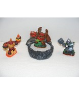 2012 ACTIVISION SKYLANDER LOT of 3 EARTH FIGURES WITH PORTAL OF POWER GUC - $24.99