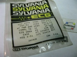 ECG187A Sylvania Pnp Silicon Si Transistor NTE187A GE-248 - Nos Qty 1 - $4.74