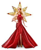 Barbie 2017 Holiday Doll Blonde Hair Girls Toys for Christmas Birthday G... - $71.21