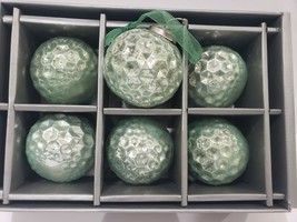 """TINSEL & FIR COASTAL MERCURY AQUA GREEN 3"""" GLASS CHRISTMAS ORNAMENTS SET... - $29.99"""